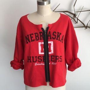 Karen Zambos Nebraska Huskies zip up sweatshirt
